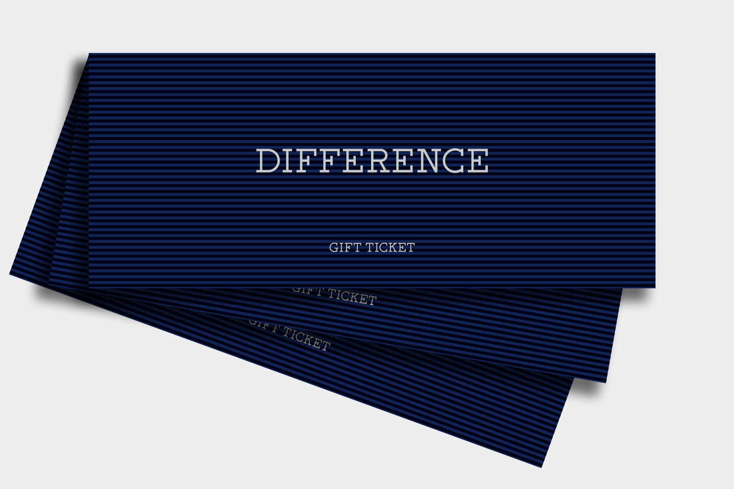 Gift ticket difference negle Gallery